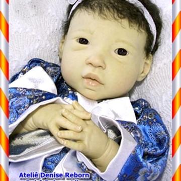 Boneca Bebê Reborn Lily Kit Kai Corpo Em Vinil Siliconado