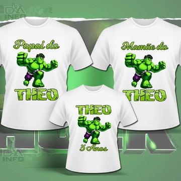 3a0078ef3c12f7 Camiseta Hulk | Elo7
