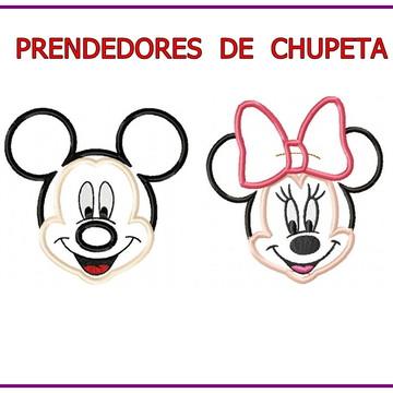 Matriz Bordado Prendedor Chupeta Mickey e Minie matrizes