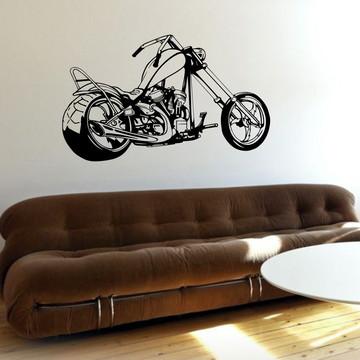 Adesivo Parede Decoração Moto Rota 66 Harley