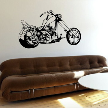 Adesivo Parede Decorativo Moto Rota 66 Harley