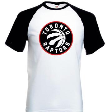 Camiseta Camisa Raglan Manga Curta Toronto Raptors