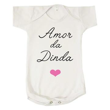 Body Bebê Amor da Dinda Coração Madrinha