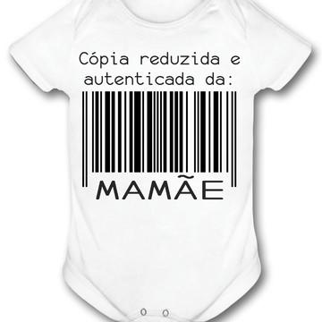 Roupa de bebê frases copia reduzida da mamãe lançamento
