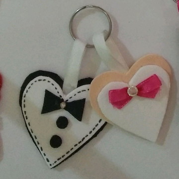 chaveiro casamento coração/ noivado