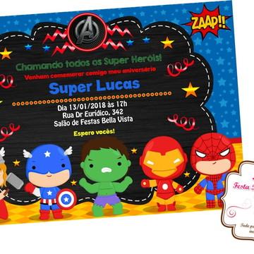 Convite digital Vingadores Baby