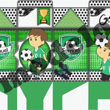 Caixa Milk Personalizada - Futebol