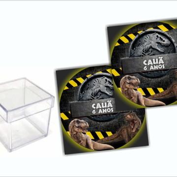 Adesivo para Caixa Acrílico Jurassic