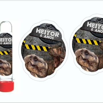 Adesivo Para Tubete Jurassic