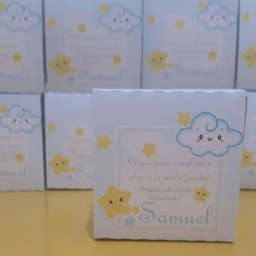 Mini Lembrancinha nascimento,chá de bebê, letrinha e nuvem