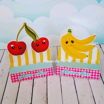 Caixa de bis duplo frutas