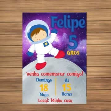 Convite Digital tema Astronauta
