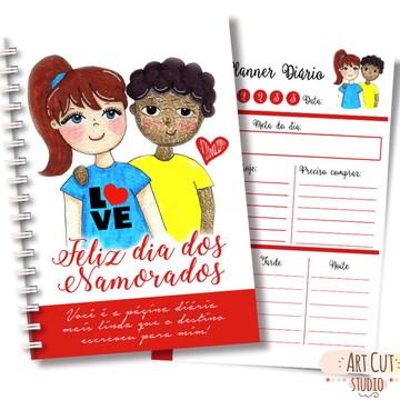 Arte digital Planner Diário Namorados