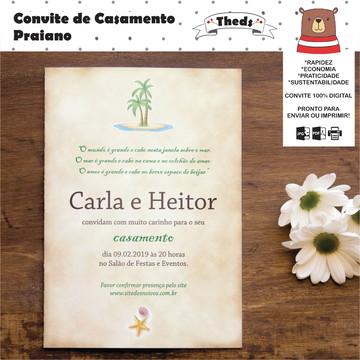 Convite de Casamento Praiano