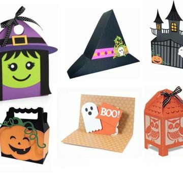 Kit Digital Arquivo Silhouette Halloween Dia das Bruxas
