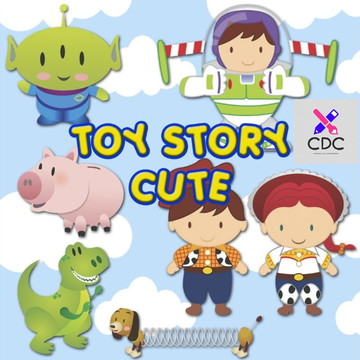 Kit Digital Scrapbook Personagens Toy Store Cute + Brinde