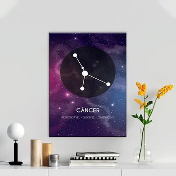 Quadro Signos Câncer Zodíaco Horóscopo Canvas Decorativo