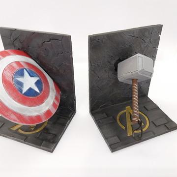Kit Aparador de Livros - Vingadores: Thor + Capitão América