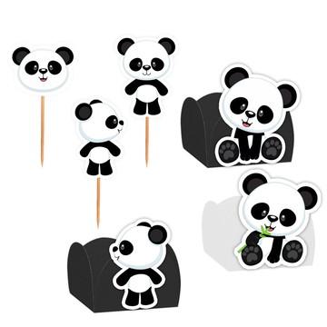 Kit Decoração Festa Panda - 100 itens