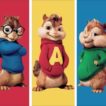 Faixa decorativa em adesivo tema Alvin e os Esquilos