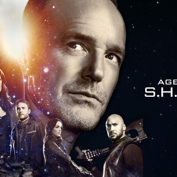 Faixa decorativa em adesivo tema Agentes da Shield