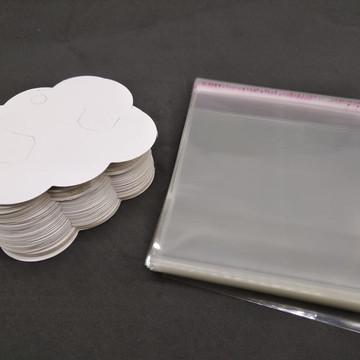 Embalagem Para Laços Completo 200 Nuvem + Saquinho Adesivado