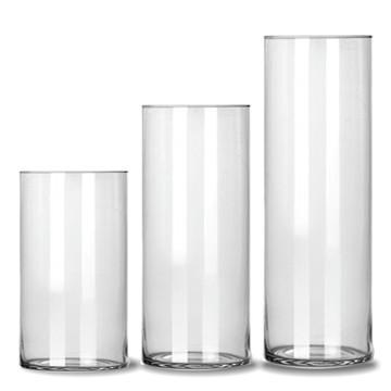 Kit 3 vasos tubos de vidro para decoração festas casamentos