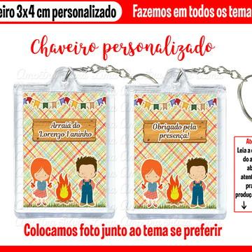 Chaveiro Acrílico Festa Junina Charraiá Arraiá