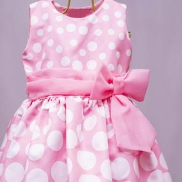 Vestido Infantil Minnie rosa