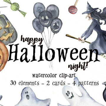 kits digitais clipart Halloween