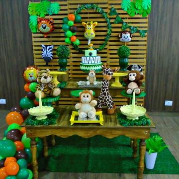 aluguel decoração safari