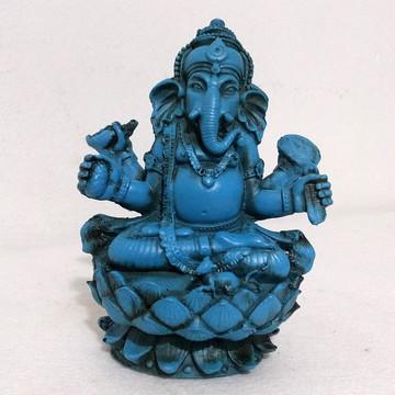 Ganesh Na Flor De Lotus cor azul