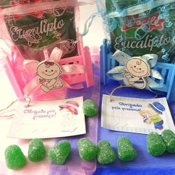 Bercinho Azul/Rosa c/saco de organza embutido, BALINHA e Tag