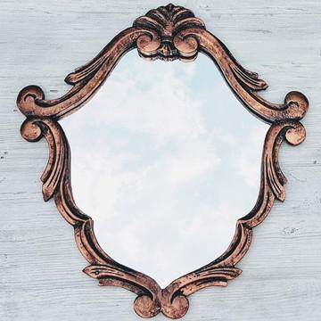 Espelho Decorativo Vintage Barrock Cobre Vintage