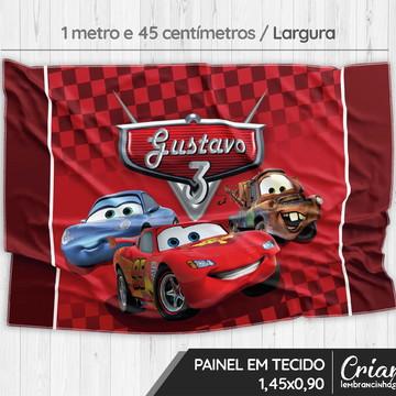 Painel em tecido personalizado - Carros Disney