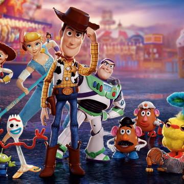 Faixa decorativa em adesivo do tema Toy Story 4
