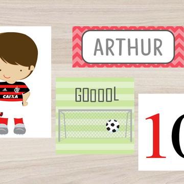 Kit Quadro Infantil - Futebol - Flamengo