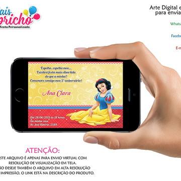 Convite Digital Branca de Neve