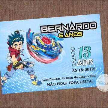 Convite Beyblade