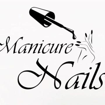 Adesivo Decorativo De Parede Salão De Beleza Manicure