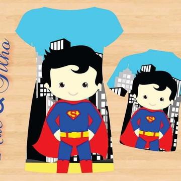 Kit Mãe e filho Super Homem Cute