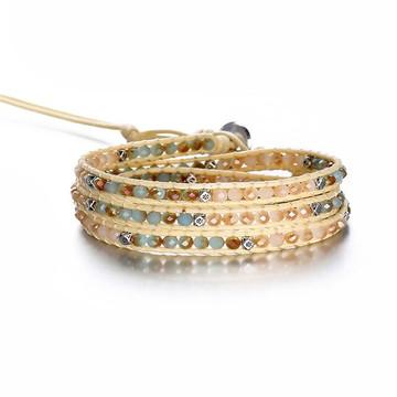 Pulseira bracelete feminina cristais estilo Chan Luu