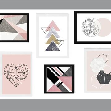 Quadro Decoração Abstrato Geométrico - casa -sala -quarto