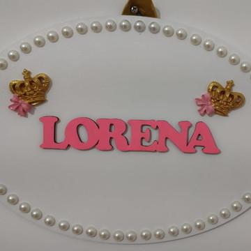 Placa para porta maternidade e decoração de quarto