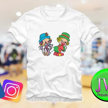Camiseta Personalizadas | camiseta palhaços infantil