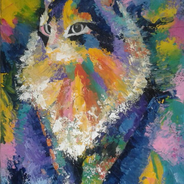 Pintura Acrílica Sobre Tela Gato