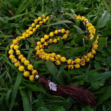 Japamala 108 contas de Açaí Amarelo - M1
