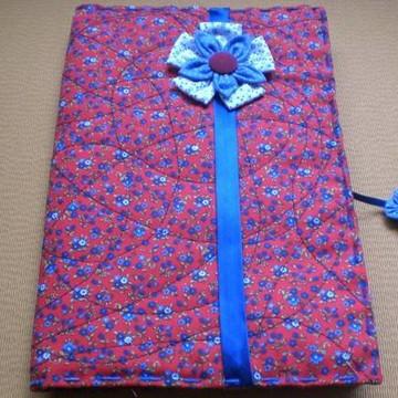 Capa de livro em tecido