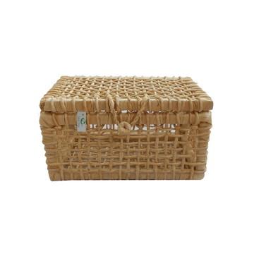 Caixa De Palha De Milho Natural 28x24x16
