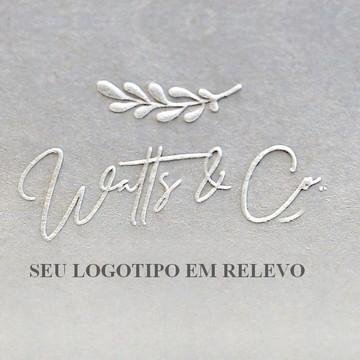 Chancela para relevo personalizada - Seu Logotipo
